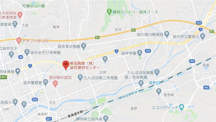 袋井建材センター地図