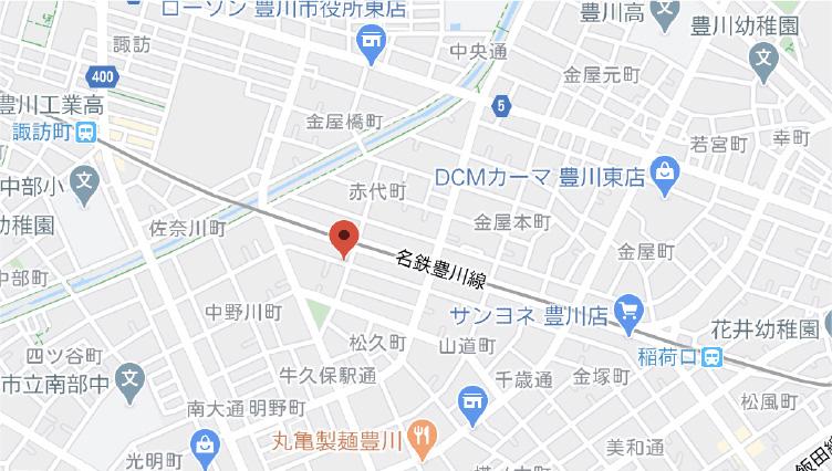 豊川支店地図