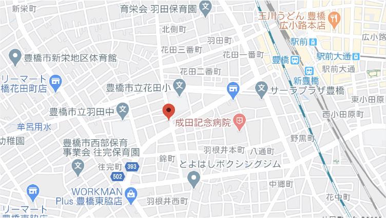 豊橋営業所地図