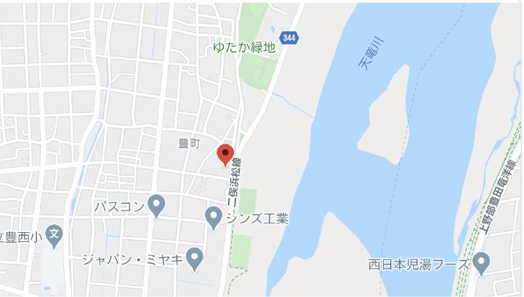 豊町建材センター地図