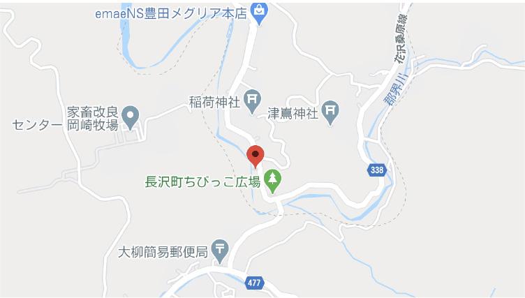 長沢工場地図